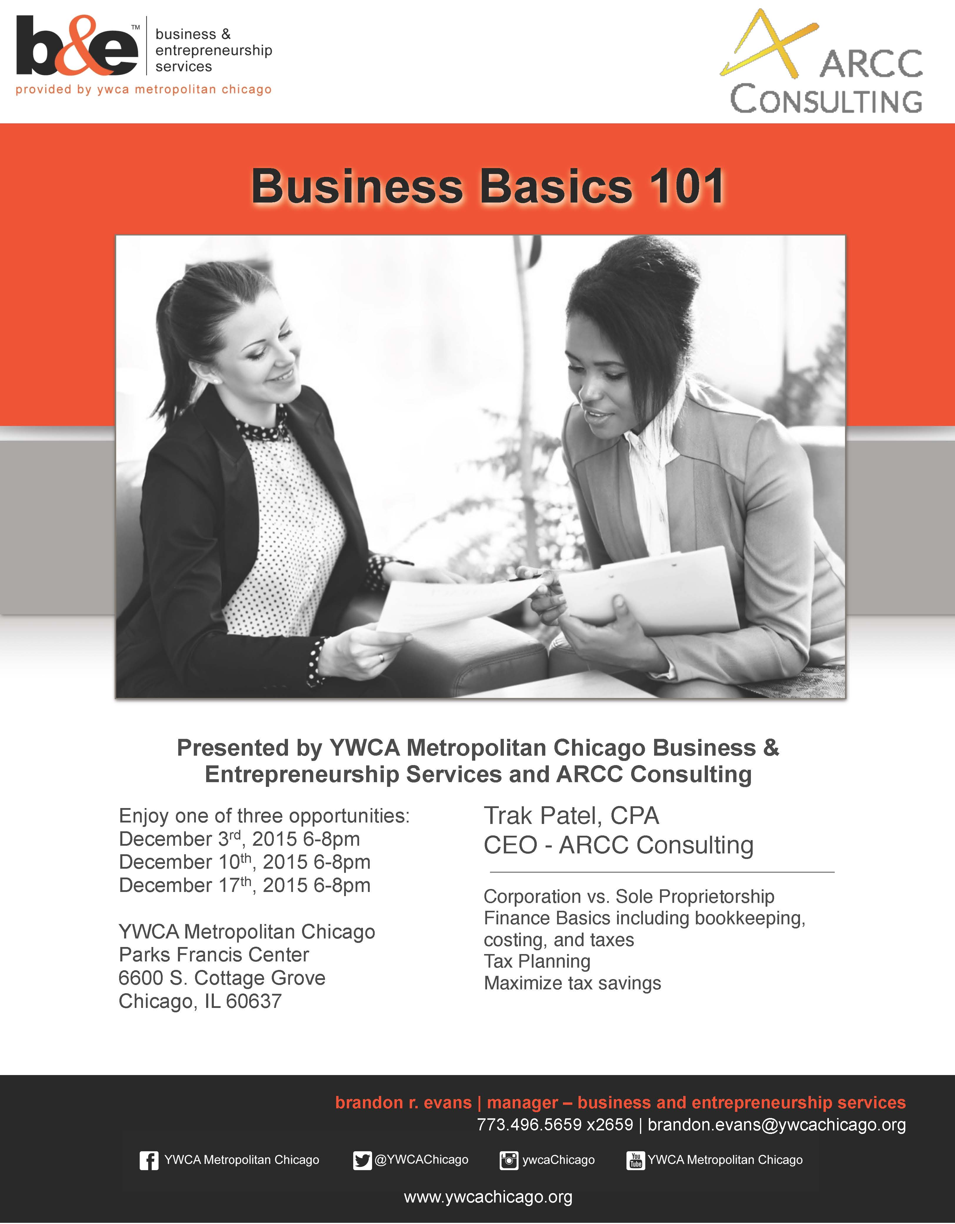 YWCA Business Course